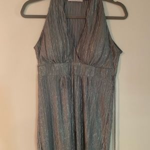 Charlotte Russe Silver Sleeveless Top